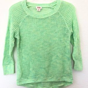 Mossimo bright green knit sweater